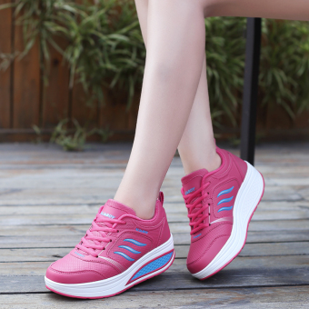 Sports New style mesh breathable rocking shoes (Leather B877 Mei)