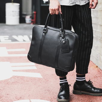 Stylish leather casual briefcase computer bag