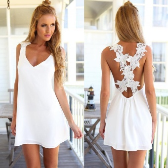 Summer Short Mini Dress Ladies Sleeveless Beach Evening Party Sundress