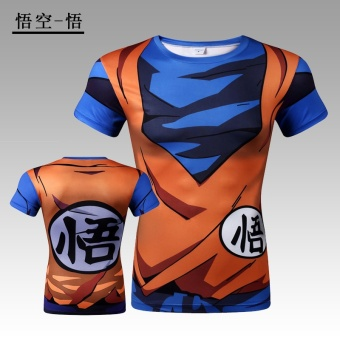Superman Wu Kong slim fit clothing fitness clothing (Wu Kong-Wu (short-sleeved)) (Wu Kong-Wu (short-sleeved))