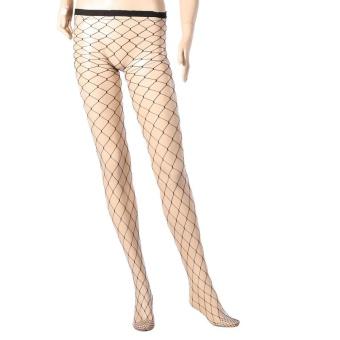 Thigh High Stockings Fishnet Hollowed Black Stretchy LeggingsSocks#1 - intl - 5