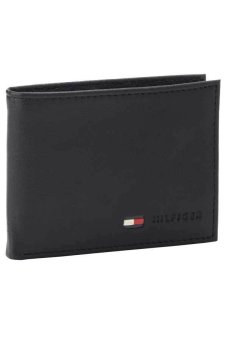Harga Tommy Hilfiger Men's Multi-Card Passcase Wallet (Black)
