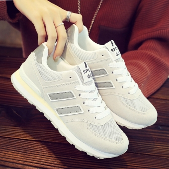 Harga Ulzzang Korean-style autumn word Spell color versatile sports shoes (627 light gray color)