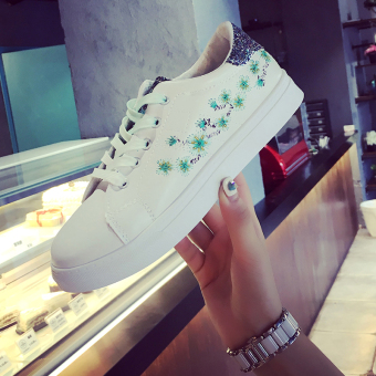 Ulzzang versatile female New style student's shoes canvas shoes (Green)