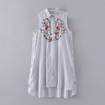 Versitile fashion embroidered spring and summer New style shirt dress