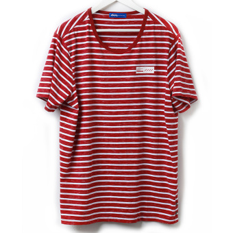Wei Chen tide brand men's summer Plus-sized round neck t-shirt (Red) (Red)