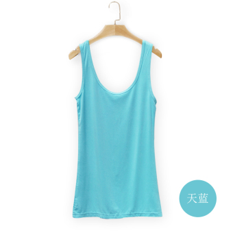 Wild modal female spring and summer bottoming shirt vest (Sky Blue)