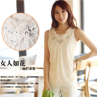 Wild summer round neck bottoming shirt vest
