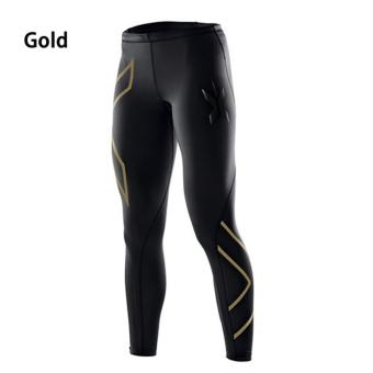 Women 2XU Professional Compression Speed Dry Fitness Pants Gold -intl - 5
