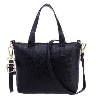 Women Messenger Bag Shoulder Bag(Black)