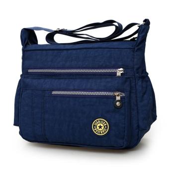 Women's Casual Oxford Cloth Shoulder Large Capacity Mummy Bag (Zang blue)