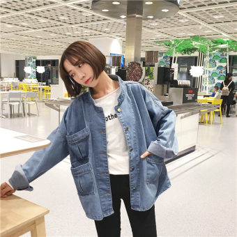 Women's denim jacket 2017 summer autumn and New style Korean-style loose College Wind thin coat tide student long-sleeved denim clothing