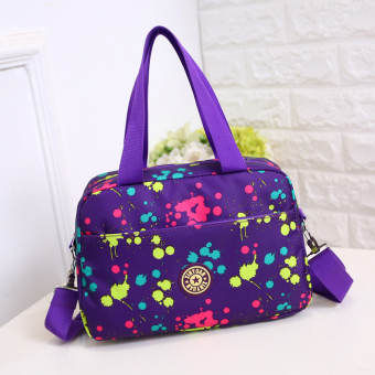 Harga Women's Korean-style Oxford Cloth Sports Hand Bag (Purple dots)