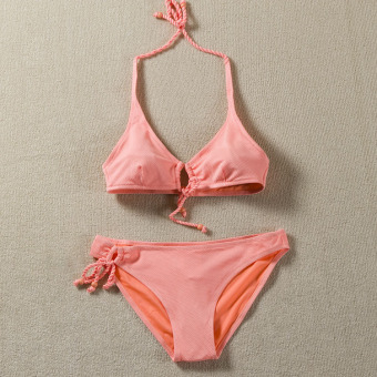Women's Lace-up 2-piece Bikini