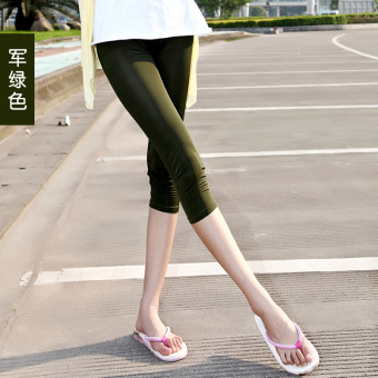Yoga summer thin section Slim fit Slimming effect outer wear ice silk pant pants