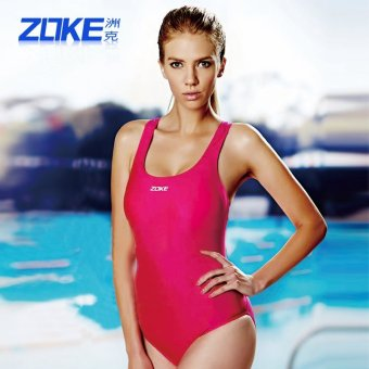 Zoke Women's slimming one-piece swim clothing sports swimsuit (Rose-6) (Rose-6)