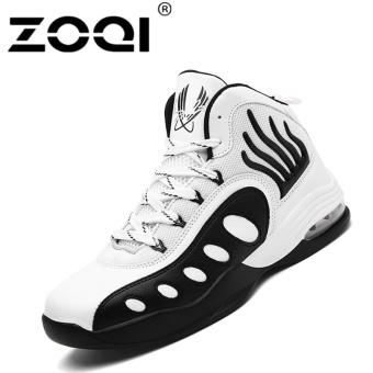 Harga ZOQI Men Basketball Shoes Male Ankle Boots Outdoor Athletic trainerBlack - intl