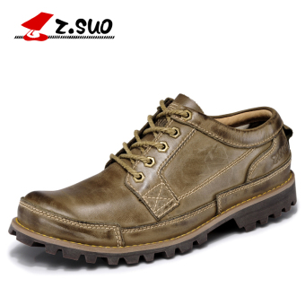 Z.Suo Spring and Autumn New style British casual shoes men's shoes (ZS889G Khaki)