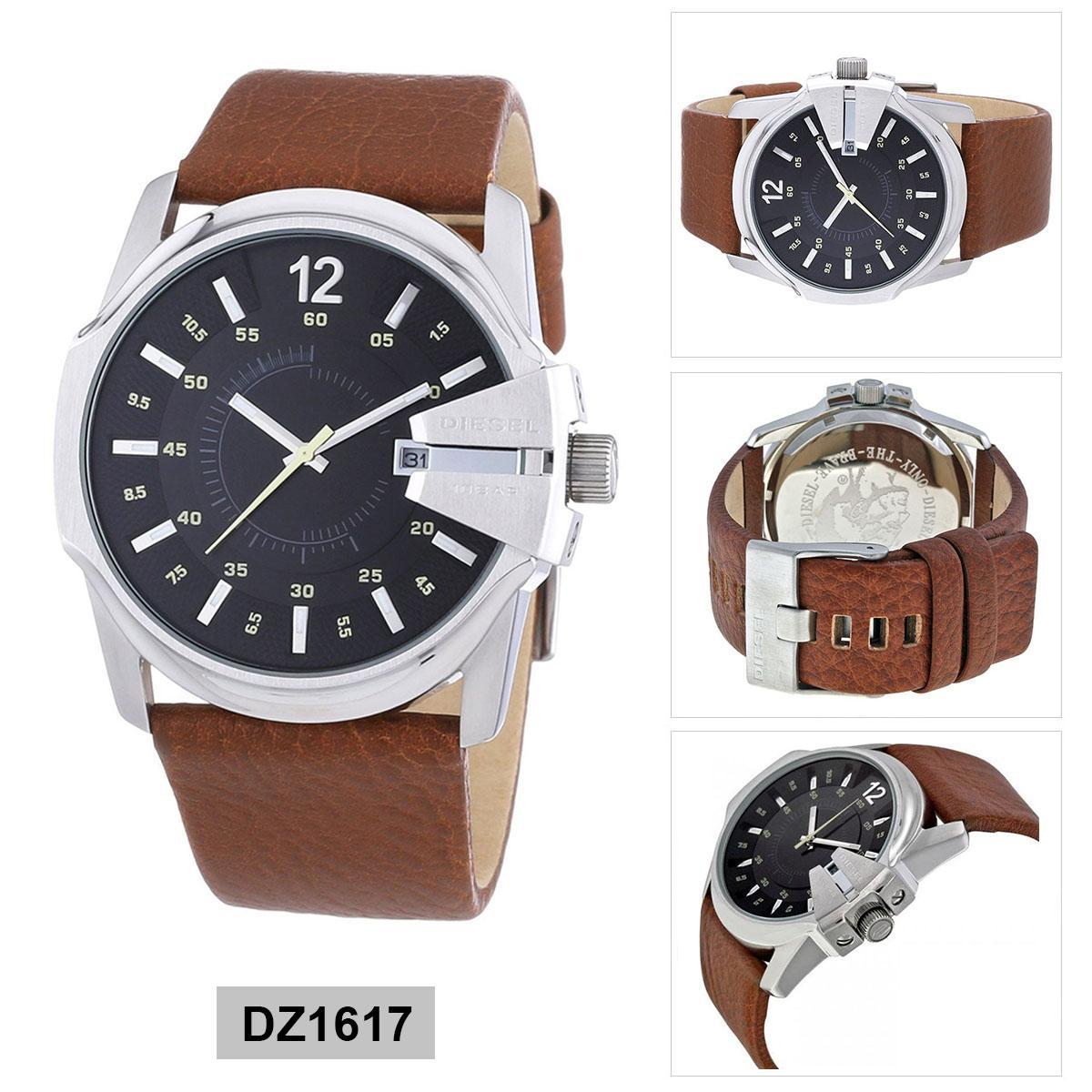 นครราชสีมา Authentic Diesel Chief Brown Stainless-Steel Case Leather Strap Mens DZ1617 2 Years Warranty