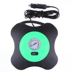 12V Portable Car Electric Air Compressor Pump Auto Tire Inflator(Green) - intl