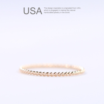 14k gold twist Ring