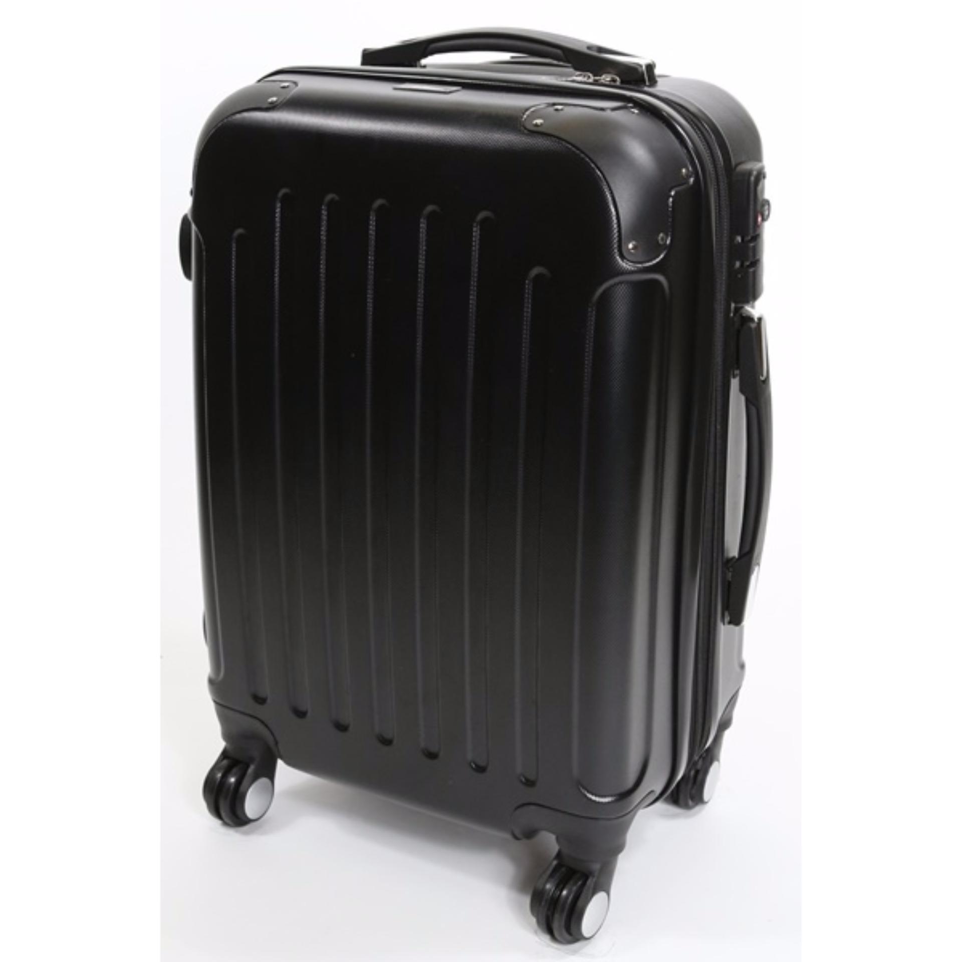24 inch KEFI Premium Lightweight Expandable Luggage (Midnight Black)