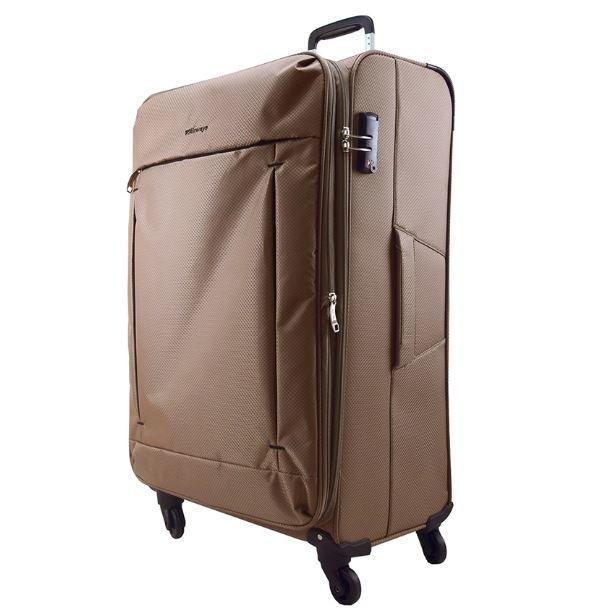 24inch 2.5kg Airways Soft Case 4 Wheels Luggage ATS6923 (Khaki)