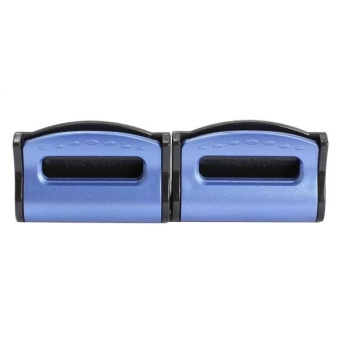 2pcs Seatbelts Clips Adjustable Stopper Plastic Clips for Vehicles(Blue) - intl