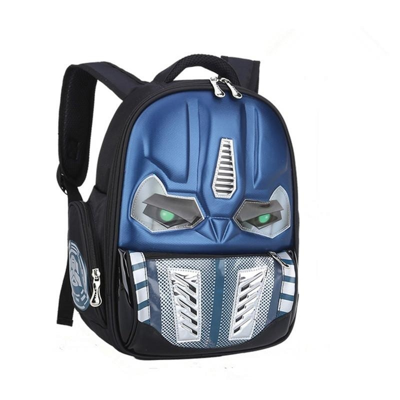 3D Cartoon School Bags For Boys Personality Backpack-Blue - intl