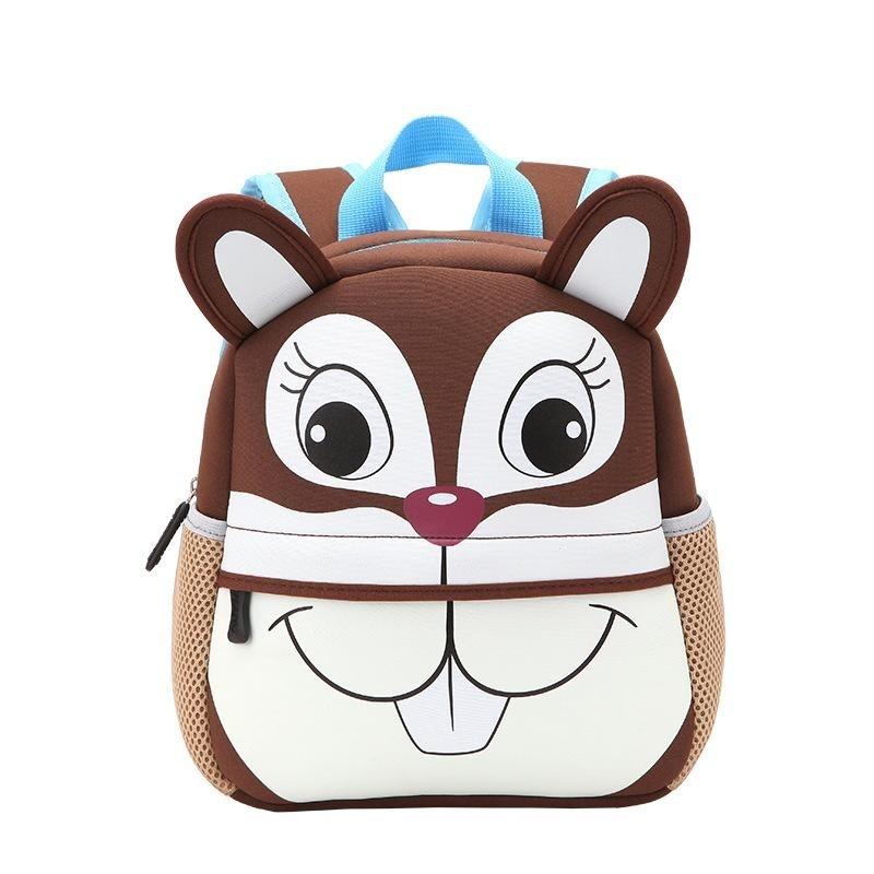 3D Cute Animal Backpack Kids School Bags - Squirrel - intl