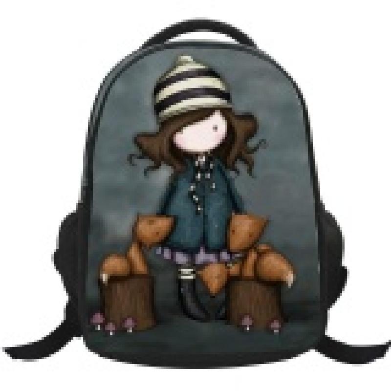 4 Colors Girls Hot Sale School Bag Lovely Cartoon Backpacks-Grey - intl