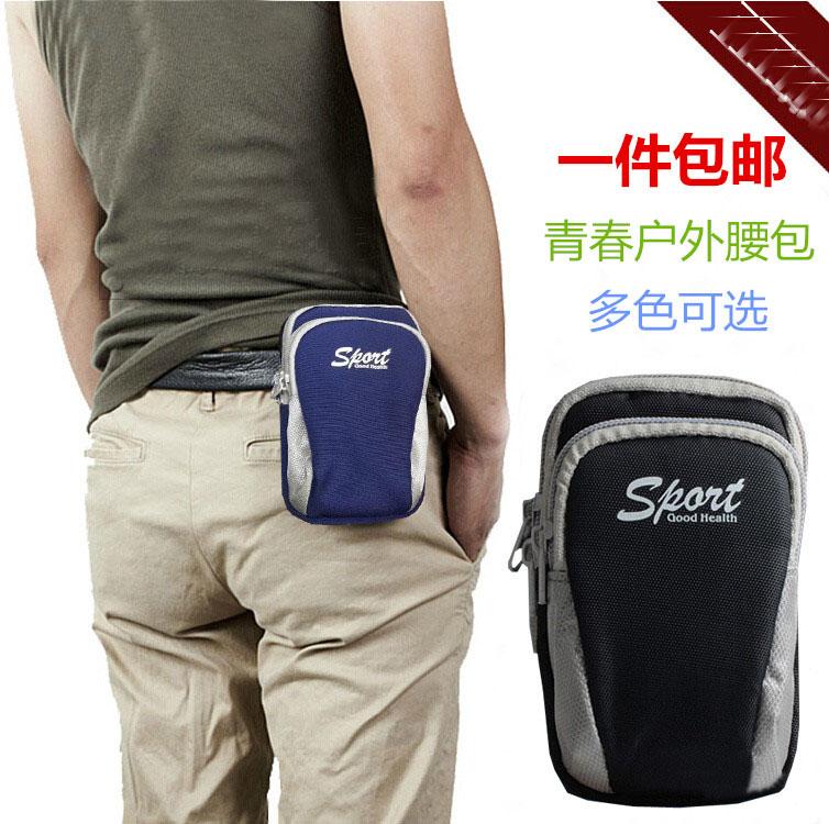 5.5-inch Apple 6 mobile phone bag protective sleeve iphone6 plus pockets phone bag sports hanging wear belt men