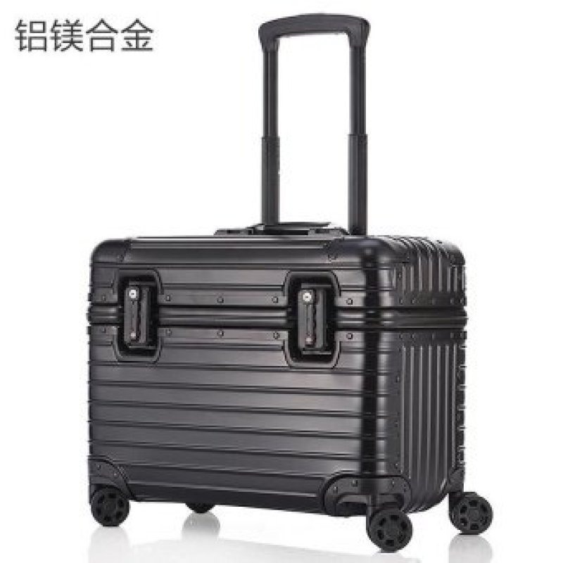 All aluminum magnesium alloy pull rod box 17 inch business travel box, air box, aluminum pull rod box, universal wheel, high chassis (17 inch aluminum magnesium alloy rod box)- (Intl)
