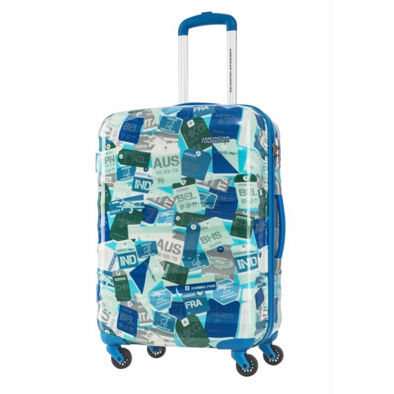 American Tourister Para-Lite Spinner 66/24 (Blue/Multi Landmark)