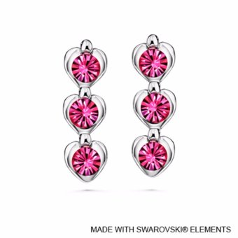 Avril Earrings (Rose) - Crystals from Swarovski®