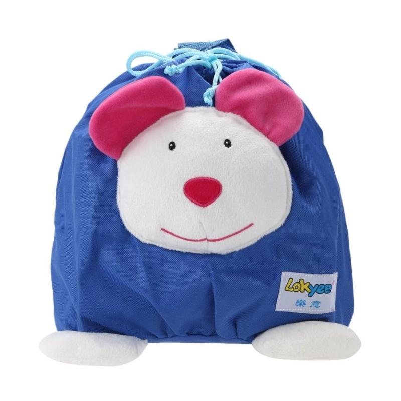 Baby Mini Cartoon Backpack Portable Schoolbag Toy (Light Blue) - intl