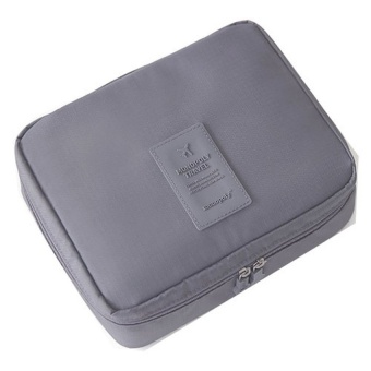 Harga Bang Waterproof Travelling Bags Toiletry Kits Washing Bag (Grey) -intl