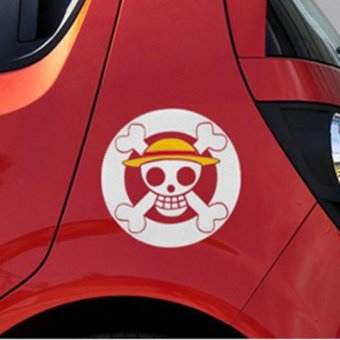 Car Sticker one piece Staw hat Decal Vinyl Wrap 15cm - intl