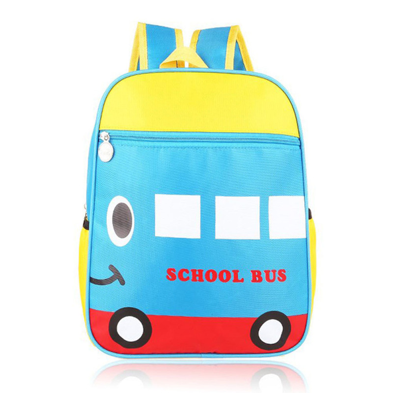 Cartoon Pattern Kids Child Nylon Waterproof Small Schoolbag School Bag Backpack School Bus
