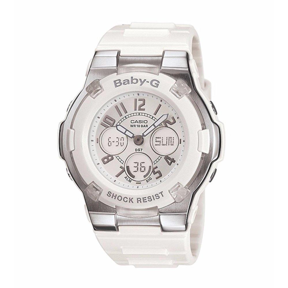Casio Womens Bga110 7b Baby G Shock Resistant White Sport Watch Gma S120mf 7a2