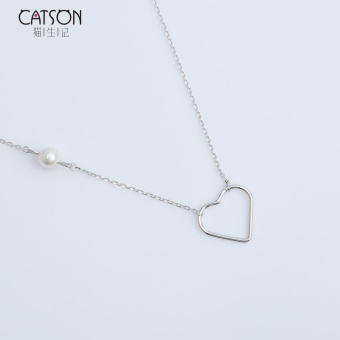 Cat raw Kee sterling silver love necklace Korean simple short paragraph neck clavicle chain gold Cool fine choker female