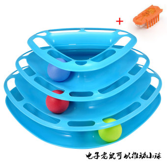 Cat toy pet toy ball three layer cat turntable funny cat stickeducational toys Pet Supplies
