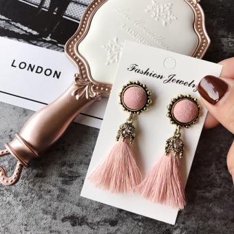 Country east door Palace Style texture tassel with jewelry earrings