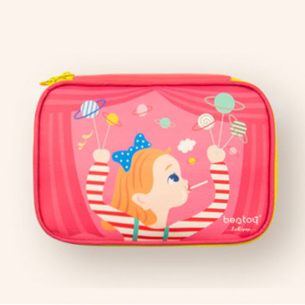 Cute leather travel large capacity makeup bag