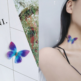 Die Wu elegant fairy invisible fishing line Butterfly clavicle chain
