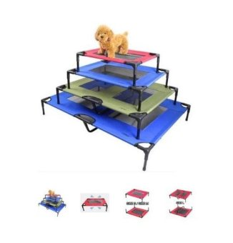 ELEVATED PET COT / BED FRAME WITH NET L Blue