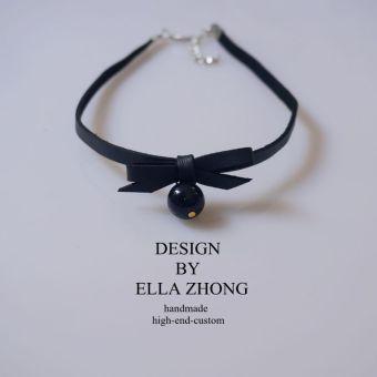 Ella versatile geometric double layer short necklace choker