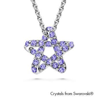 Essie Necklace (Tanzanite) Crystals from Swarovski®
