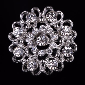 Fancyqube New Arrival Fashion Brooch For Women Rhinestone Corsage Suit Decoration Party Jewelry Gift - intl