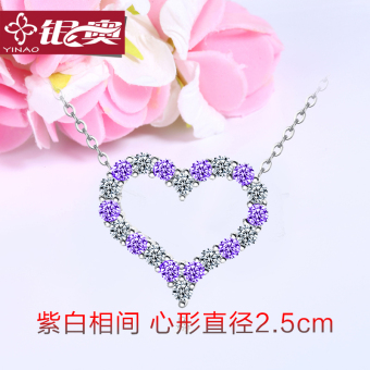 Female 925 pendant heart-shaped Student Love-shaped clavicle chain